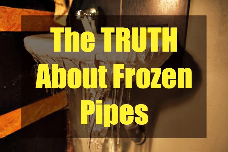 frozen pipes myths debunked