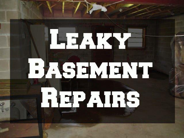 leaky basement repairs johns plumbing hvac