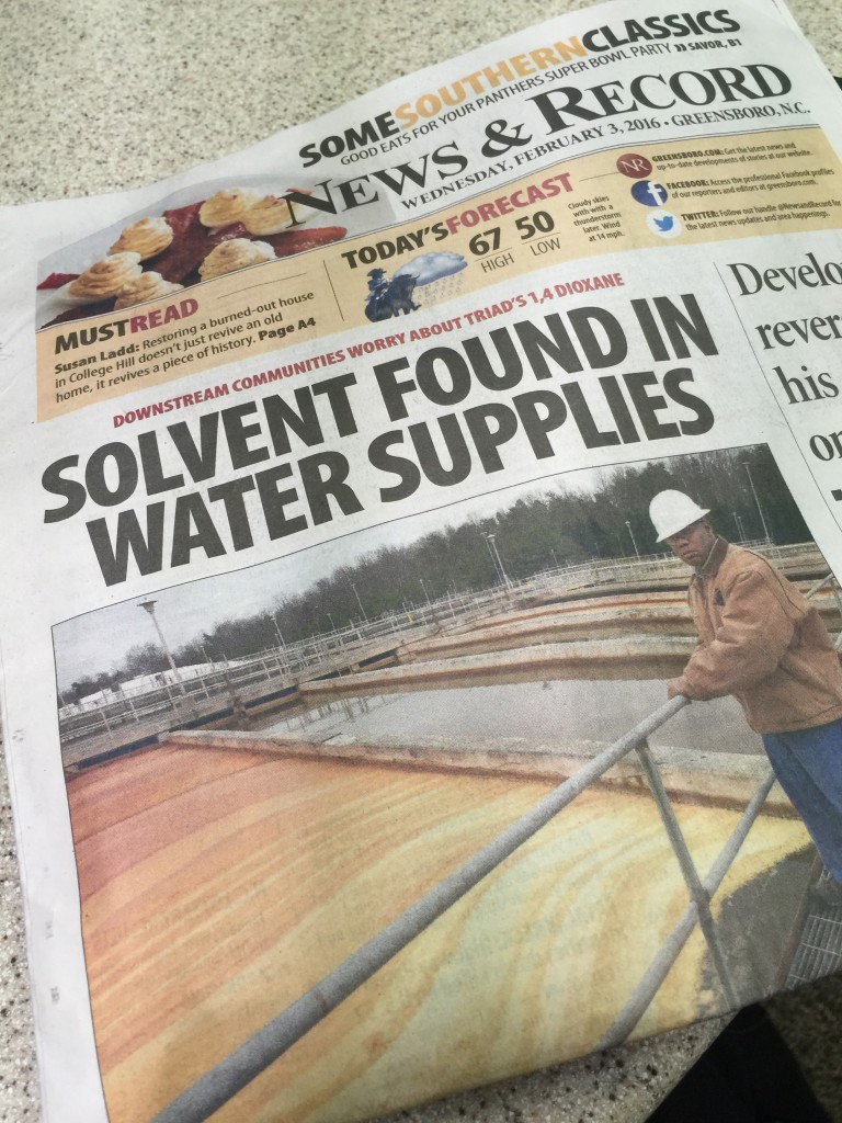 Solvent found in local water supplies