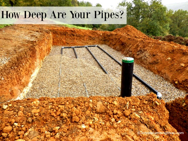 How far down should your pipes be?