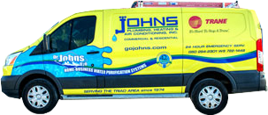 Johns Plumbing HVAC Truck